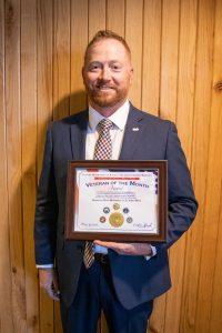 McKibben with his FDACS Veteran of the Month award.