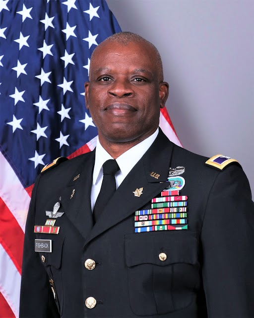 U.S. Army Col. Derrick Fishback as Deputy Commanding Officer of the 350th Civil Affairs Command in Pensacola, Florida.