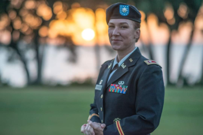 Charlene LaMountain promoted to Lieutenant Colonel at Bay Palms Golf Complex on MacDill AFB.